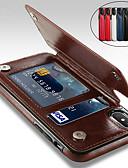 baratos Capinhas para iPhone-caso para iphone xs / iphone xr / iphone xs max com suporte / à prova de choque / carteira capa dura sólido colorido pu couro / iphone 6 / iphone7 / iphone 7 plus / iphone 8 / / iphone 8 plus