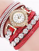 ราคาถูก นาฬิกาควอตซ์-สำหรับผู้หญิง นาฬิกาควอตส์ นาฬิกาอิเล็กทรอนิกส์ (Quartz) PU Leather ดำ / ฟ้า / แดง นาฬิกาใส่ลำลอง ระบบอนาล็อก โบฮีเมียน แฟชั่น - สีแดงชมพู สีเขียวอ่อน กุหลาบแดง หนึ่งปี อายุการใช้งานแบตเตอรี่