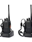 Χαμηλού Κόστους σέξι Σώματα-2pcs baofeng bf-888s Επαναφορτιζόμενη σειρά 5w διπλής κατεύθυνσης ραδιοφωνικές βιντεοκάμερες 16 καναλιών φορητό ραδιόφωνο ενσωματωμένο φανό οδήγησε + ακουστικά φορητό φορητό uhf400-470mhz