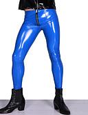 povoljno Zentai odijela-Sjajna zentai odijela Hlače Cosplay Nošnje Muškarci za motocikle Odrasli Lateks Cosplay Nošnje Cosplay Halloween Muškarci Crn / Red / Plava Jednobojni Halloween Maškare / Odijelo za kožu
