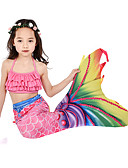 ราคาถูก คอสเพลย์ชุดว่ายน้ำ-คอสเพลย์และคอสตูม ชุดว่ายน้ำ บีกีนี่ The Little Mermaid หางนางเงือก Aqua Princess สำหรับเด็ก Lycra® คอสเพลย์และคอสตูม Mermaid and Trumpet Gown Slip คอสเพลย์ สีชมพู เงือก / Top