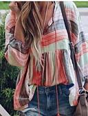 ราคาถูก เสื้อยืดสำหรับสุภาพสตรี-สำหรับผู้หญิง ขนาดพิเศษ เสื้อเชิร์ต คอวี หลวม รูปเรขาคณิต สีม่วง