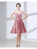 ราคาถูก Special Occasion Dresses-A-line อัญมณี Above Knee เลื่อม เพื่อนเจ้าสาวชุด กับ เลื่อม โดย LAN TING Express