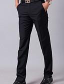ราคาถูก กางเกงผู้ชาย-สำหรับผู้ชาย พื้นฐาน สูท กางเกง - สีพื้น สีดำ สีน้ำเงินกรมท่า 34 36 38