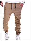 billige Poloskjorter til herrer-Herre Grunnleggende Jogger Bukser - Ensfarget Svart Grå Kakifarget XL XXL XXXL