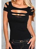 Χαμηλού Κόστους T-shirt-Γυναικεία T-shirt Μονόχρωμο Τιράντες Ρουμπίνι