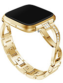 povoljno Smartwatch bendovi-Pogledajte Band za Fitbit Versa / Fitbit Versa Lite Fitbit Dizajn nakita Metal / Nehrđajući čelik Traka za ruku