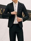 ราคาถูก เบลเซอร์ &สูทผู้ชาย-สำหรับผู้ชาย เสื้อคลุมสุภาพ คอวี เส้นใยสังเคราะห์ สีดำ / ขาว / สีม่วง / เพรียวบาง