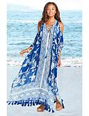 ราคาถูก ชุดว่ายน้ำและบิกินีผู้หญิง-สำหรับผู้หญิง สีน้ำเงิน รวมด้วย ชุดว่ายน้ำ - ลายดอกไม้ ขนาดเดียว สีน้ำเงิน