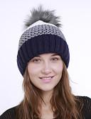 ราคาถูก หมวกสตรี-สำหรับผู้หญิง ลายบล็อคสี สังเคราะห์ ซึ่งทำงานอยู่ พื้นฐาน สไตล์น่ารัก-หมวกปีกกว้าง ตก ฤดูหนาว สีน้ำเงินกรมท่า สีเทา สีกากี