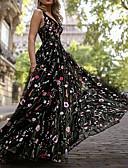 ราคาถูก Special Occasion Dresses-A-line คอวี ลากพื้น ออแกนซ่า / Tulle แต่งตัว กับ ลายปัก / แพทเทิร์นหรือลายพิมพ์ โดย LAN TING Express