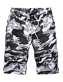 זול טישרטים לגופיות לגברים-בגדי ריקוד גברים בסיסי שורטים מכנסיים - דפוס אפור ירוק צבא XXXXL XXXXXL XXXXXXL
