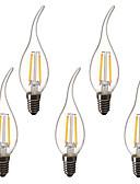 billiga Skärmskydd till Huawei-5pcs 1.5 W LED-kronljus LED-glödlampor 200 lm E14 C35L 2 LED-pärlor Högeffekts-LED Dekorativ Varmvit 220-240 V 220 V 230 V