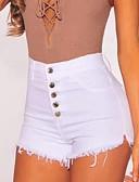 ราคาถูก กางเกงผู้หญิง-สำหรับผู้หญิง พื้นฐาน กางเกงขาสั้น กางเกง - สีพื้น ขาว S M L