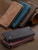 billige Etuier/deksler til Huawei-Etui Til Huawei P smart / Huawei P Smart 2019 Lommebok / Kortholder / Støtsikker Heldekkende etui Ensfarget Hard PU Leather