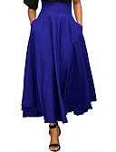Χαμηλού Κόστους Casual Φορέματα-Γυναικεία Κούνια Βασικό / Εκλεπτυσμένο Μακρύ Φούστες - Μονόχρωμο Φιόγκος / Σουρωτά Κρασί Ανοιχτό Γκρι Βαθυγάλαζο L XL XXL