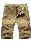povoljno Muške duge i kratke hlače-Muškarci Osnovni Kratke hlače Hlače - Jednobojni Crn Plava Djetelina M L XL