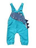 billige BabyGutterdrakter-Baby Gutt Aktiv Trykt mønster Ermeløs Bomull Kjeledress og jumpsuit Grønn