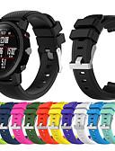 ราคาถูก วง Smartwatch-สายนาฬิกา สำหรับ Huami Amazfit A1602 / นาฬิกา Huami Amazfit Pace / Huami Amazfit Stratos Smart Watch 2/2S Xiaomi สายยางสำหรับเส้นกีฬา ยางทำจากซิลิคอน สายห้อยข้อมือ