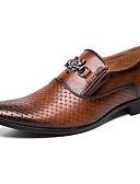 ราคาถูก เสื้อโปโลสำหรับผู้ชาย-สำหรับผู้ชาย สไตล์อินเดียนแดง Synthetics ฤดูใบไม้ผลิ / ตก ธุรกิจ / ไม่เป็นทางการ รองเท้าส้นเตี้ยทำมาจากหนังและรองเท้าสวมแบบไม่มีเชือก ไม่ลื่นไถล สีดำ / สีน้ำตาล / พรรคและเย็น / พรรคและเย็น