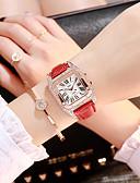 povoljno Kvarcni satovi-Žene Kvarc Kvarc Umjetna koža Crna / Bijela / Crvena Casual sat imitacija Diamond Analog Moda - Crn Red Blushing Pink