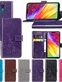 Χαμηλού Κόστους Θήκες iPhone-tok Για LG LG Q Stylus / LG X Power3 / LG V40 Πορτοφόλι / με βάση στήριξης / Ανοιγόμενη Πλήρης Θήκη Μονόχρωμο / Πεταλούδα / Λουλούδι Σκληρή PU δέρμα
