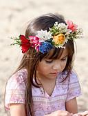 ราคาถูก ชุดเด็กผู้หญิง-Toddler ทุกเพศ พื้นฐาน / หวาน ลายดอกไม้ ลายพิมพ์ สังเคราะห์ เครื่องประดับผม ขาว / สีแดงชมพู / สายรุ้ง ขนาดเดียว