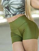ราคาถูก ชุดว่ายน้ำและบิกินีผู้หญิง-สำหรับผู้หญิง Sporty / พื้นฐาน เพรียวบาง กางเกงวอร์ม / กางเกงขาสั้น กางเกง - สีพื้น คลาสสิค / กีฬา เอวสูง สีดำ สีบานเย็น ตะพุ่น M L XL