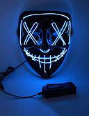 baratos Máscaras-LED Máscara de Halloween Inspirado por Purga Branco Laranja LED Light Up Dia Das Bruxas Adulto Homens Mulheres