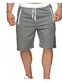 ราคาถูก กางเกงผู้ชาย-สำหรับผู้ชาย พื้นฐาน กางเกงขาสั้น กางเกง - สีพื้น เทาเข้ม ไวน์ เทาอ่อน L XL XXL