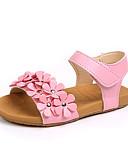 ราคาถูก เดรสเด็กผู้หญิง-เด็กผู้หญิง ความสะดวกสบาย หนังเทียม รองเท้าแตะ เด็กวัยหัดเดิน (9m-4ys) / เด็กน้อย (4-7ys) ดอกไม้ ขาว / สีชมพู ฤดูร้อน / พรรคและเย็น / TR