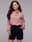 billige Skjorter til damer-Bluse Dame - Ensfarget Chic & Moderne Rosa
