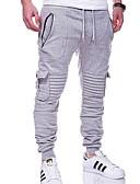 billige Herrebukser og -shorts-Herre Grunnleggende Joggebukser Bukser - Ensfarget Mørkegrå Militærgrønn Lyseblå XL XXL XXXL