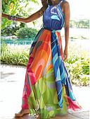 baratos Vestidos Longos-Mulheres Praia Sensual Boho Túnicas balanço Abaya Vestido - Floral Chifon Nadador Longo