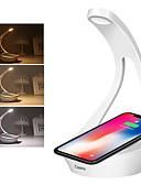 povoljno Zaštitne folije za iPhone-cooho vodio stolna svjetiljka bežični punjač stolna svjetiljka - 3 boje način osvjetljavanja dodir kontrole noćna svjetla 1.50watts 5.00 volti