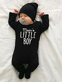 זול סטים של ביגוד לתינוקות-מקשה אחת One-pieces כותנה שרוול ארוך דפוס בסיסי בנים תִינוֹק / פעוטות