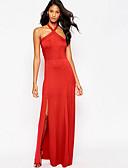 povoljno Haljine za NG-Žene Elegantno Swing kroj Haljina Jednobojni Na vezanje oko vrata Maxi