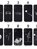 זול מגנים לאייפון-מארז iPhone XS / iPhone XS מקס דפוס / שקוף כיסוי אחורי קריקטורה / מוצק צבע tpu רך עבור iPhone 5 / iPhone se / 5s / iPhone 6 7 8 7 פלסו 8 פלוס