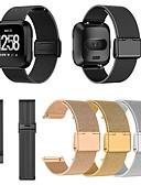 זול מגנים לאייפון-צפו בנד ל Fitbit Versa / Fitbit Versa לייט פיטביט לולאה בסגנון מילאנו מתכת / מתכת אל חלד רצועת יד לספורט