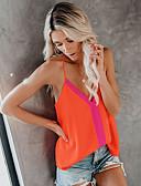 ราคาถูก รถถังสตรีและเสื้อชูชีพ-สำหรับผู้หญิง เสื้อกล้าม สาย สีพื้น ส้ม