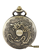 ราคาถูก นาฬิกาพก-สำหรับผู้ชาย นาฬิกาแบบพกพา นาฬิกาอิเล็กทรอนิกส์ (Quartz) ทองแดง Creative นาฬิกาใส่ลำลอง ระบบอนาล็อก ไม่เป็นทางการ Cartoon - บรอนซ์