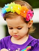 ราคาถูก ชุดเด็กผู้หญิง-Toddler เด็กผู้หญิง พื้นฐาน / หวาน ลายดอกไม้ ลายพิมพ์ สังเคราะห์ เครื่องประดับผม สายรุ้ง ขนาดเดียว