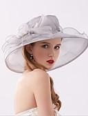 ราคาถูก หมวกสตรี-สำหรับผู้หญิง สีพื้น เส้นใยสังเคราะห์ ตารางไขว้ ซึ่งทำงานอยู่ พื้นฐาน สไตล์น่ารัก-หมวกปีกกว้าง ดวงอาทิตย์หมวก ทุกฤดู สีบานเย็น ไวน์ ตะพุ่น