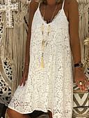 billige Romantiske blonder-Dame A-linje Kjole Med stropper Knelang