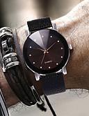 ราคาถูก นาฬิกาสำหรับผู้ชาย-สำหรับผู้ชาย นาฬิกาตกแต่งข้อมือ นาฬิกาอิเล็กทรอนิกส์ (Quartz) หนัง ดำ 30 m กันน้ำ ดีไซน์มาใหม่ ปุ่มหมุนขนาดใหญ่ ระบบอนาล็อก ไม่เป็นทางการ แฟชั่น - ขาว สีดำ หนึ่งปี อายุการใช้งานแบตเตอรี่