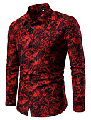 """זול חולצות פולו לגברים-גיאומטרי רזה האיחוד האירופי / ארה""""ב גודל כותנה, חולצה - בגדי ריקוד גברים פול"""