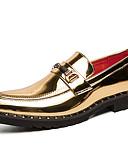 ราคาถูก นาฬิกาข้อมือหรูหรา-สำหรับผู้ชาย ใส่รองเท้า Synthetics ฤดูใบไม้ผลิ / ตก ไม่เป็นทางการ / อังกฤษ รองเท้าส้นเตี้ยทำมาจากหนังและรองเท้าสวมแบบไม่มีเชือก ไม่ลื่นไถล สีดำ / สีทอง / สำนักงานและอาชีพ / สไตล์อินเดียนแดง