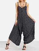 Χαμηλού Κόστους Γυναικείες μακριές και μίνι ολόσωμες φόρμες-Γυναικεία Κομψό στυλ street Τιράντες Μαύρο Πλατύ Πόδι Φόρμες Ολόσωμη φόρμα, Ριγέ Τ M L