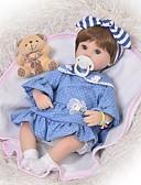 ราคาถูก เคสสำหรับโทรศัพท์มือถือ-FeelWind Reborn Dolls เด็กผู้หญิง 18 inch ซิลิโคน - เด็ก / วัยรุ่น น่ารัก เด็ก ทุกเพศ Toy ของขวัญ