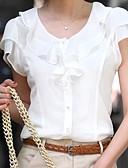 ราคาถูก เสื้อเอวลอยสำหรับผู้หญิง-สำหรับผู้หญิง เสื้อสตรี สีพื้น ขาว